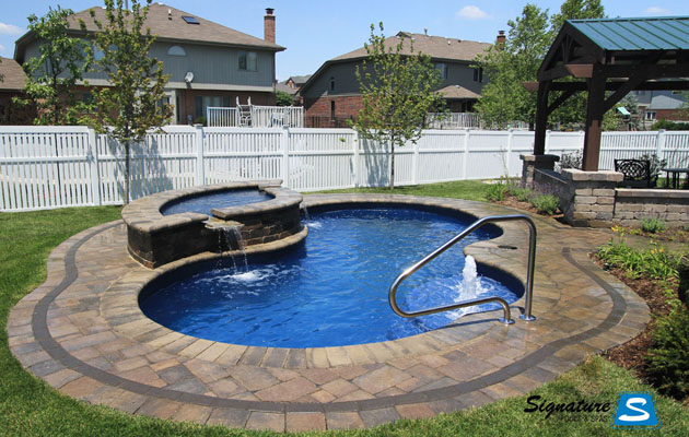 Picasso Model Pool From Trilogy Fiberglass Pools Signature Fiberglass Pools Chicago Swimming