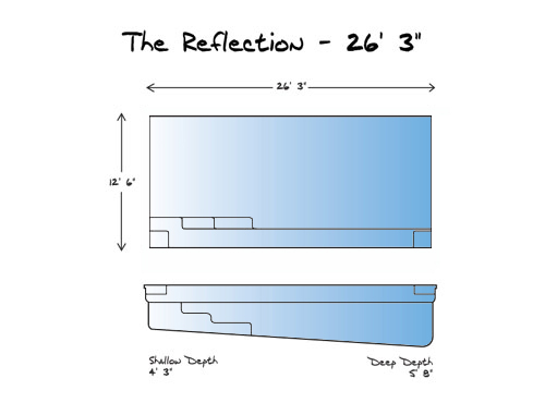 Reflection 26 Pool_Line Drawing - Leisure Pools