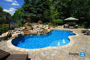 Trilogy Pools Gemini model pool built by Signature Pools in Lisle, Illinois.