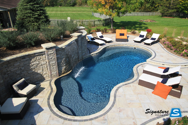 Calypso Model Pool From Trilogy Pools Signature Fiberglass Pools Chicago Swimming Pool Builder